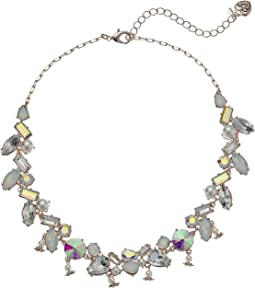 Betsey Johnson Mixed Stone Collar Necklace