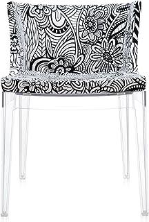 Kartell Mademoiselle À La Mode 4893 Silla, Estructura Transparente, Blanco y Negro, 50x74x63 cm