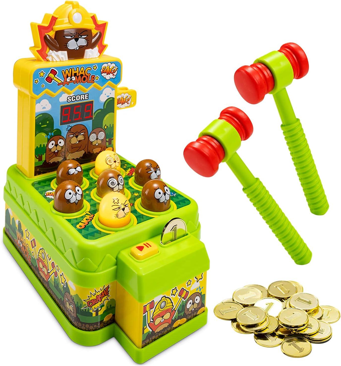 Whack A depot Mole Game for Kids Ranking TOP11 - Dual Ga Arcade Mini Electronic Mode