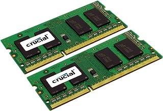 Crucial 4GB DDR3/DDR3L 1333 MT/s (PC3-10600) SODIMM ذاكرة 204-Pin For Mac - CT4G3S1339M 8GB Kit (4GBx2) CT2K4G3S1339M