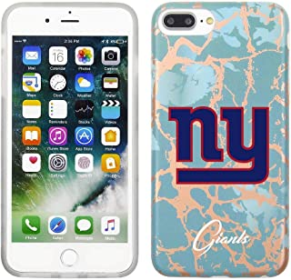 Prime Brands Group Cell Phone Case for Apple iPhone 8 Plus/7 Plus/6S Plus - Teal/Rose Gold - NFL Licensed New York Giants