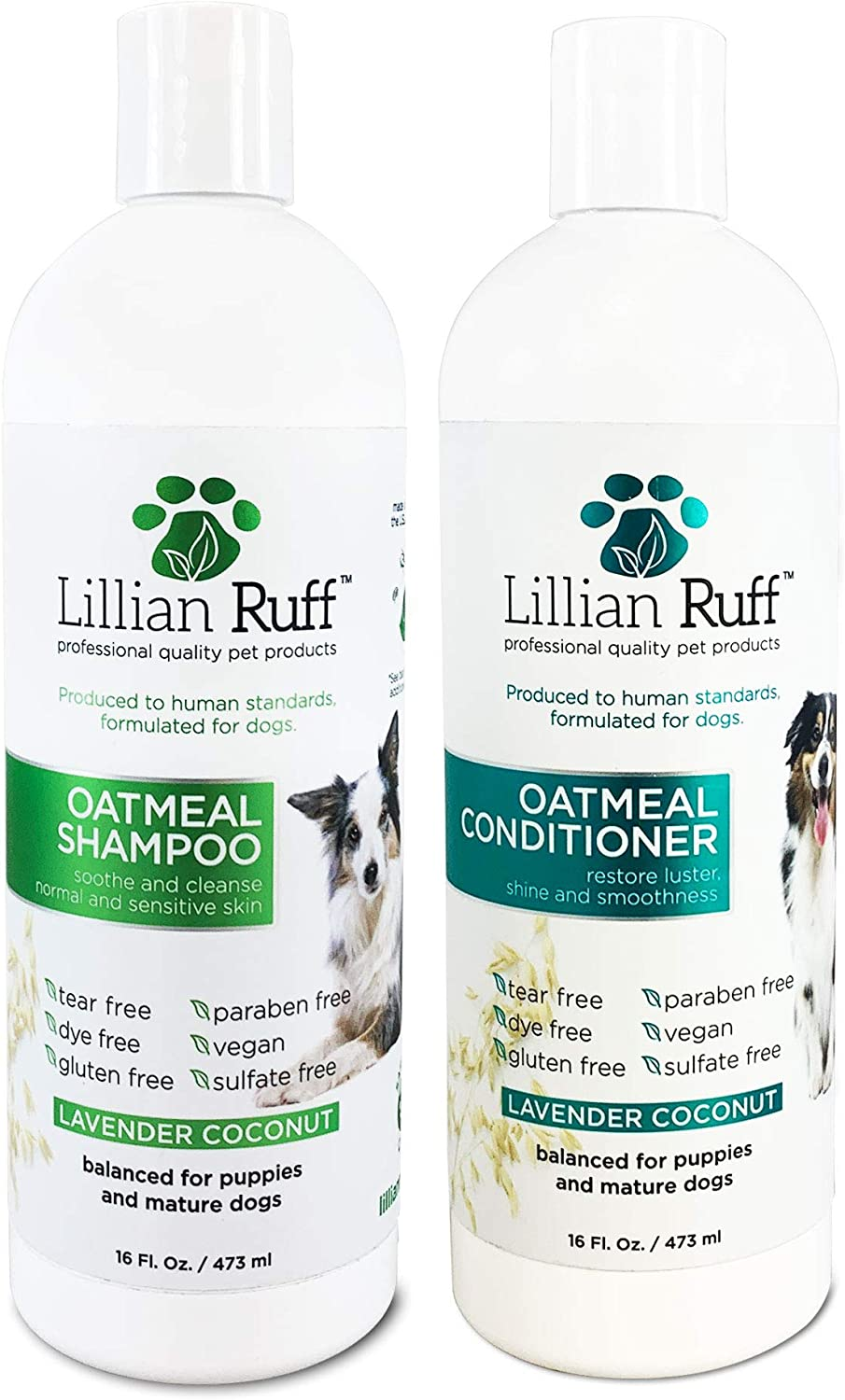 Our shop OFFers the best service Lillian Ruff Direct store Oatmeal Dog Shampoo - Lavender A Coconut with Scent