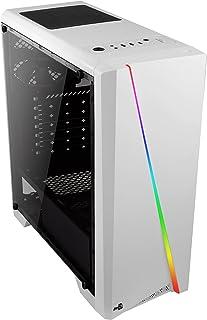 (Aerocool Cylon White Acrylic, Mid-Tower) - Aerocool Cylon PC Gaming Case, Mid-Tower ATX, RGB, 13 Lighting Modes, Full Win...