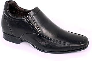 Max Denegri Zapato Formal Tabaco Negro 7cms De Altura