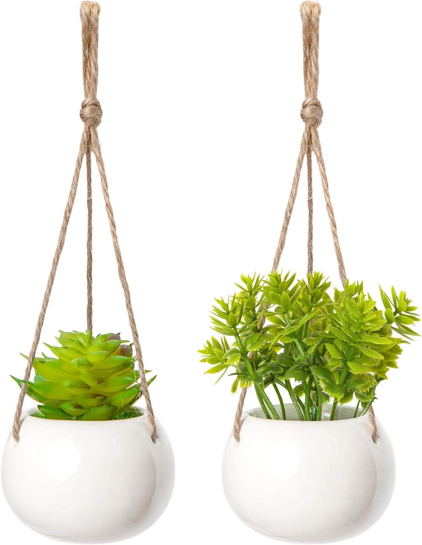 Macram\u00e9 Mini Plant Hanger in Natural