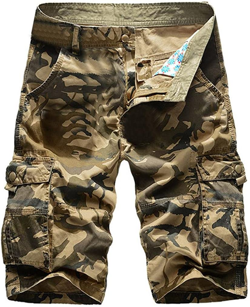 Year-end gift vermers shopping Men's Casual Cargo Shorts Bea Outdoors Pocket Camouflage