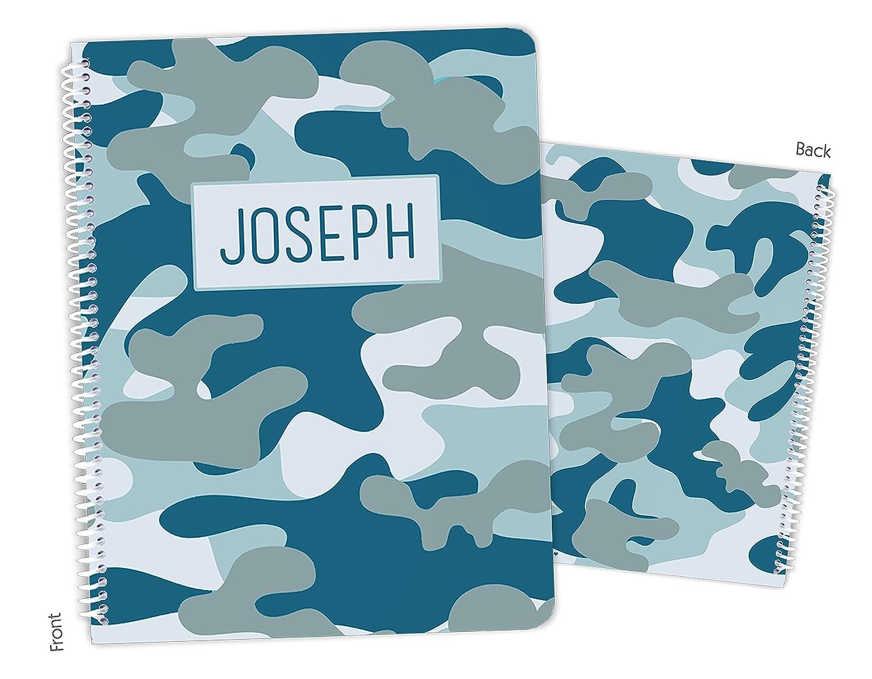Personalized Blue Camo Camouflage 2021 Regular dealer model Bound Notebook Sketchbo Spiral