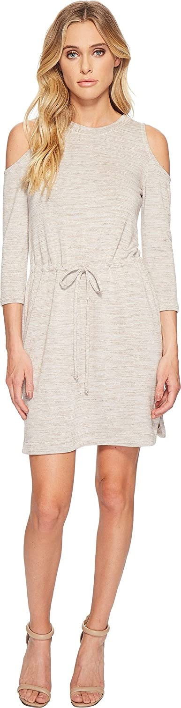 American pink Womens Delaney FrontTie Long Sleeve Dress