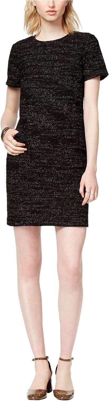 Maison Jules Womens Textured Shift Dress Black 2XL