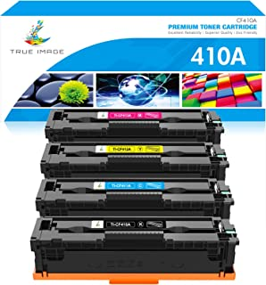 Best TRUE IMAGE Compatible Toner Cartridge Replacement for HP 410A CF410A CF411A CF412A CF413A Color Laserjet Pro MFP M477fnw M477fdw M477fdn M452dn M452nw M477 Toner (Black Cyan Yellow Magenta, 4-Pack) Reviews