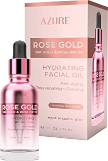 AZURE Rose Gold Hydrating Facial Oil - Anti Aging, Lifting & Firming | Reduces Appearance Of Wrinkles & Fine Lines | Calms...
