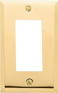 Baldwin Estate 4754.030.CD Square Beveled Edge Single GFCI Wall Plate in Polished Brass, 4.5