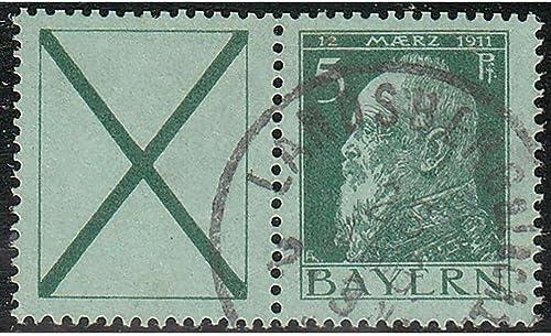 Goldhahn Bayern W 2 A gestempelt Briefmarken für Sammler