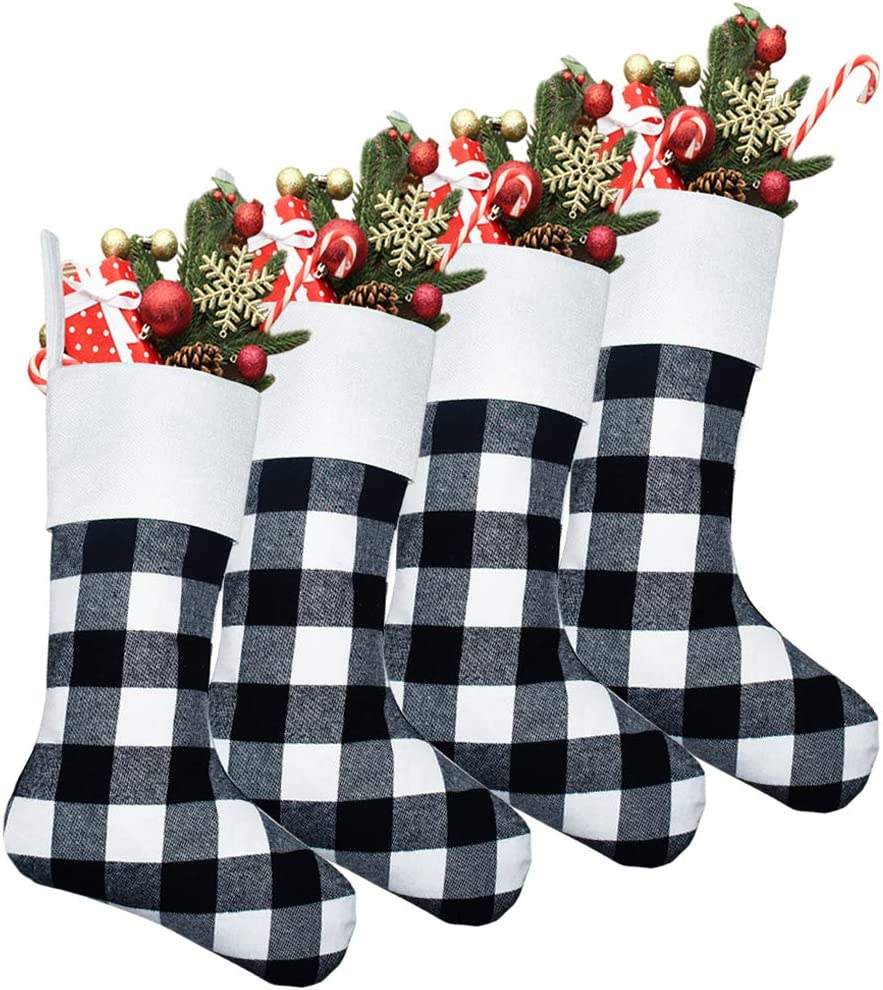Yodofol 4 Pack List price Pet Dog low-pricing Christmas a Red Classic Buffalo Stockings