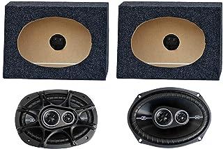 """2) Kicker 41DSC6934 6x9"""" 360W Car Speakers + 2) QTW6X9 Angled 6x9"""" Speaker Box photo"""