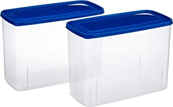 Amazon Brand - Solimo Set of 2 Storage Container (3.4L), Blue