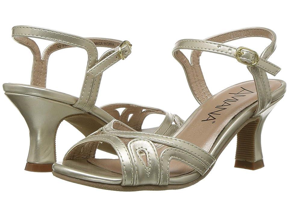 Amiana 15-A5181 (Little Kid/Big Kid/Adult) (Light Gold Matte Patent) Girls Shoes