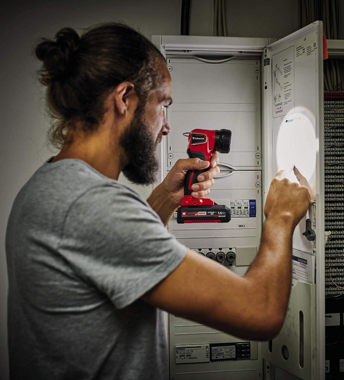 18V, Flux lumineux : 280 lm, Jusqu/à 32h dautonomie, 1 LED Einhell Lampe torche sans fil sans fil sur batterie TE-CL 18 Li H-Solo Power X-Change ,VERSION KIT LIVRE AVEC BATTERIE ET CHARGEUR