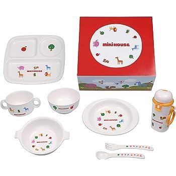 【Amazon.co.jp限定】 ミキハウス MIKI HOUSE テーブルウェア 8点 セット 5000 45-8017-454