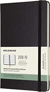 Moleskine Classic 18 Month 2018-2019 Weekly Planner, Hard Cover, Large (5
