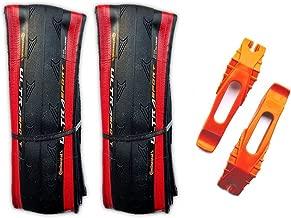 Continental Ultra Sport II 700x25c Road Bike Folding Tire Combo (2 Tires & 2 Tire Levers)