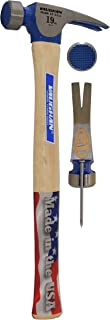 Vaughan CF2 19-Ounce California Framer, Milled Face, Straight White Hickory Handle, 16-Inch Long
