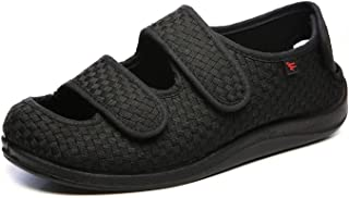 YISHIO Chaussures orthopédiques diabétiques Femme Baskets Homme Hallux valgus fasciite Plantaire Scratch réglable Chausson...