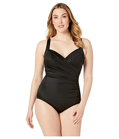 Miraclesuit Plus Size Solid Sanibel One-Piece (Black) Women