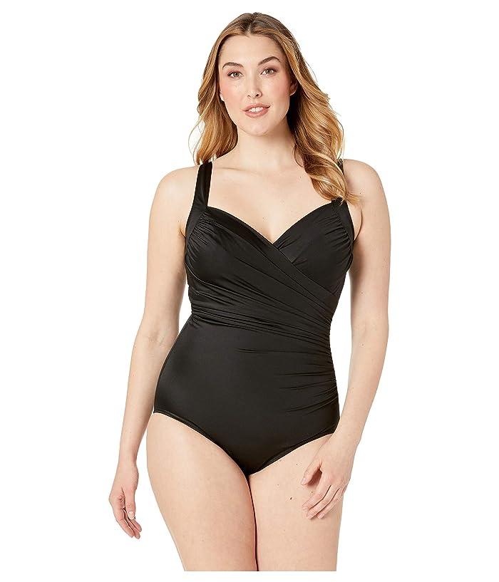 Miraclesuit Plus Size Solid Sanibel One-Piece (Black) Women