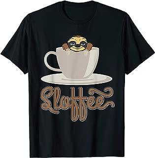 sloffee coffee sloth funny sloth coffee lover gift T-Shirt