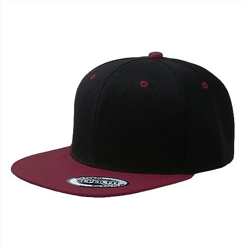 Blank Adjustable Flat Bill Plain Snapback Hats Caps (All Colors) 014976951d95