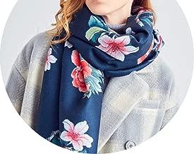 Original Design Print Wool Scarf Women Warm Shawl Winter Bandana Women Thicken Luxury Bufanda Mujer