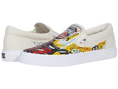 DC DC X Basquiat Sneaker Collection (White/Graffiti Print