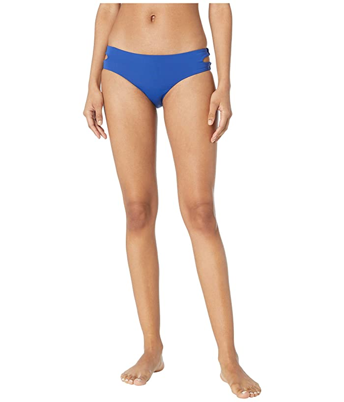 THE BIKINI LAB Solids Cut Out Hipster (Ink Blue) Women