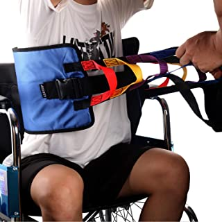 Patient Lift Sling, Heavy Duty Transfer Sling for Movement, Padded Patient Transfer Assist Belt for 400lb Weight, Quicker Easier Safer Transfers & Toileting, Lift Sling for Elderly