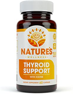 Thyroid Support Complex With Iodine For Energy Levels, Weight Loss, Metabolism, Fatigue & Brain Function - Natural Health Supplement Formula: L-Tyrosine, Selenium, Kelp, Bladderwrack, Ashwagandha, etc