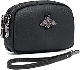 imeetu Coin Pouch Change Purse, Leather Wallet with Wrist Strap