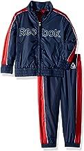 Reebok Boys' Toddler Nylon Retro Windsuit Zip Up Jacket and Jog Pant