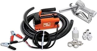 SuperHandy Transfer Pump Kit 10GPM/40LPM Heavy Duty Portable Diesel Fuel ONLY Electric DC 12V Alligator Clamps includes: Aluminum Manual Nozzle, Delivery & Suction Hose w/Filter (NOT For Gasoline)