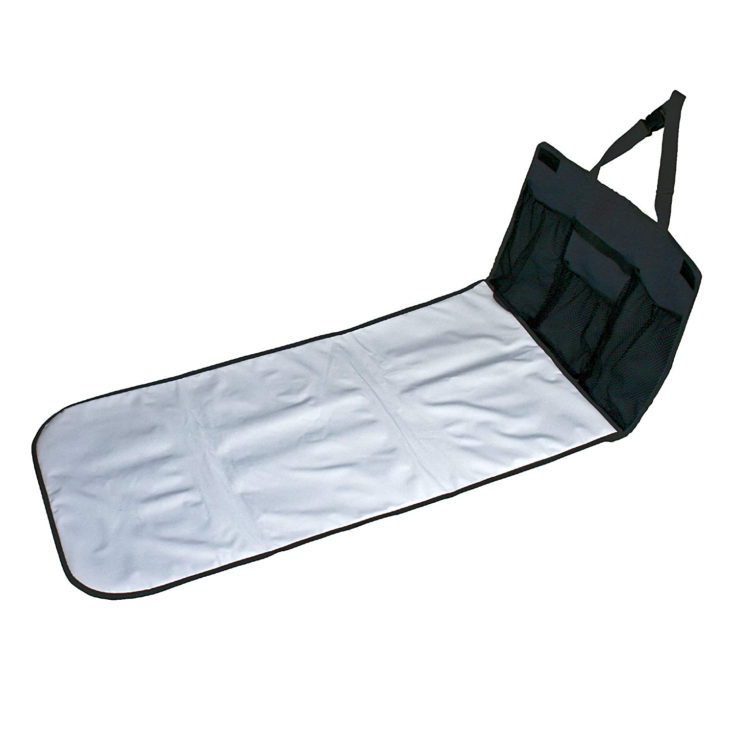 J.L. Childress Pockets 'N Pad, Portable Diapering Station for Your Vehicle, Detachable Changing Pad, Pocket Panel for Storage, Fully Padded, X-Large Dimensions (36