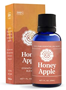 Honey Apple Essential Oil Autumn Blend | 100% Pure & Natural Aromatherapy Therapeutic Grade Oil | For Diffuse, Topical Use | 1 Fl Oz
