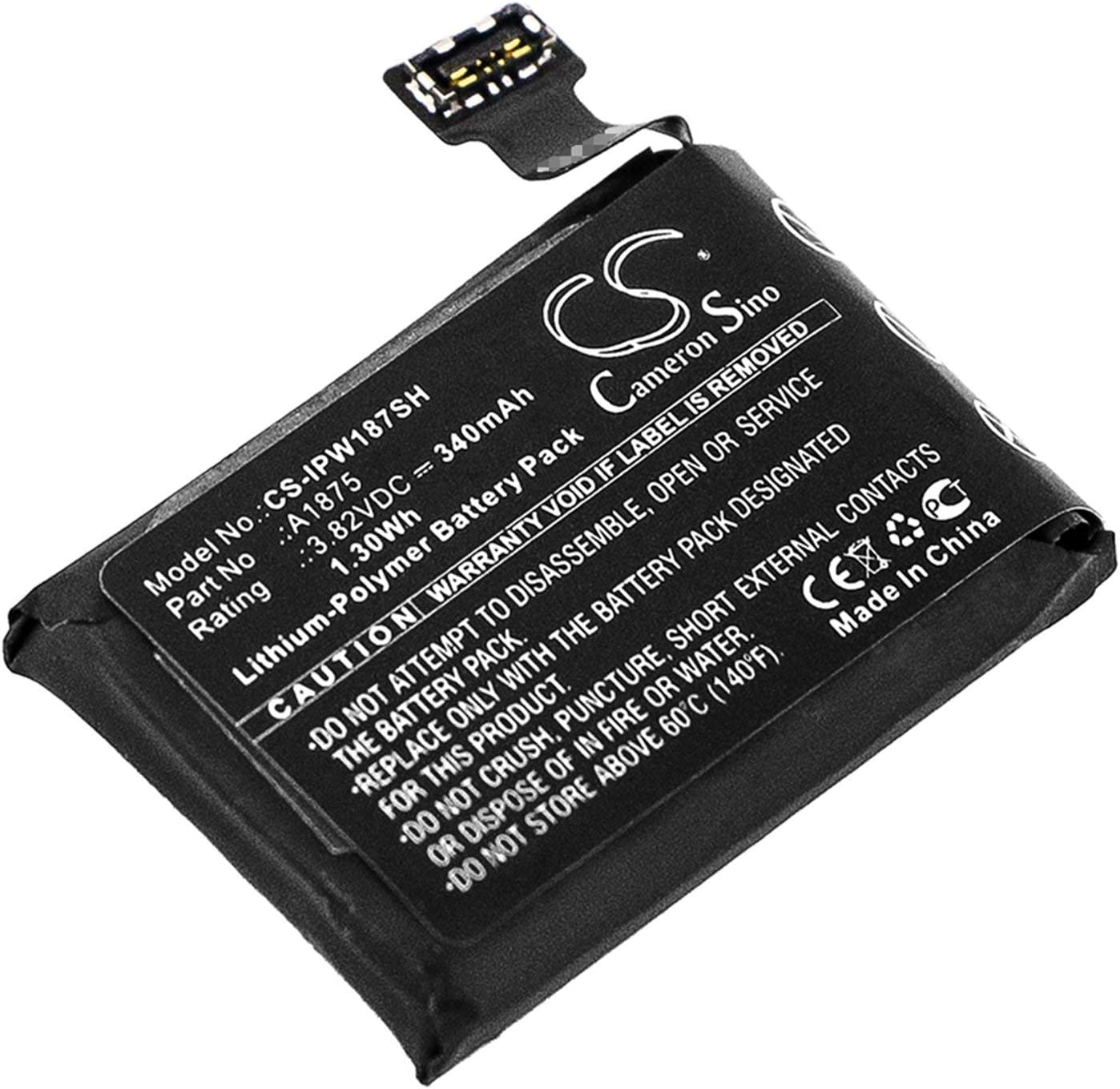 VINTRONS Battery Replacement Compatible for Apple A1861, Watch Series 3 42mm, Watch Series 3 GPS 42mm,