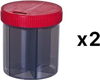 Progressive Vitamin/Pill Organizer 6 Compartments with 4 Oz Capacity (2-Pack)