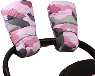 7 A.M. Enfant Warmmuffs Stroller Gloves with Universal Fit (Camo Pink)