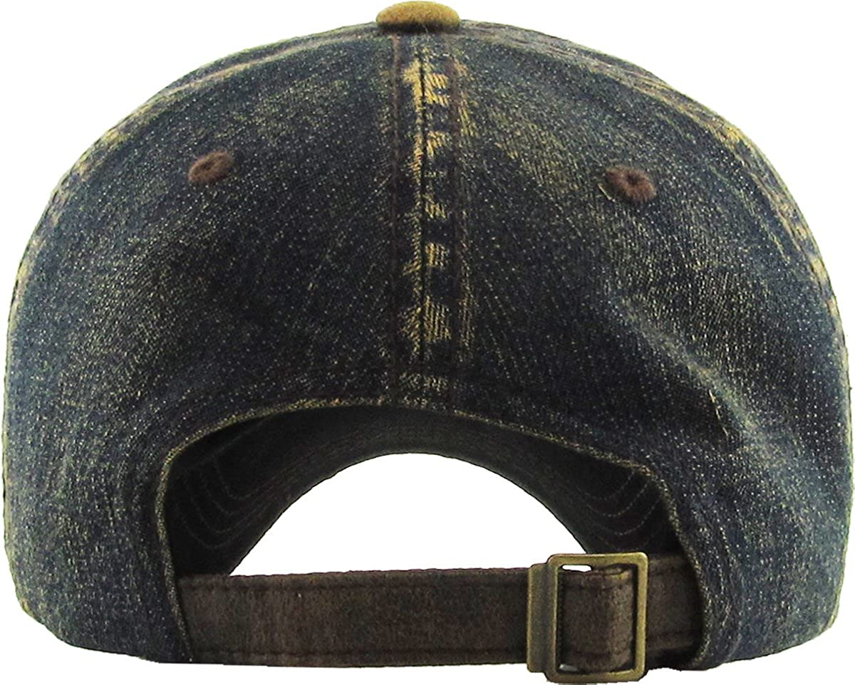 American Spirit Collection USA Distressed Vintage Baseball Cap Dad Hat Adjustable Unconstructed