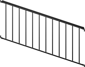 Ultimate Aluminum 8' Stair Rail Kit - Black Fine Textured