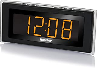 Karcher UR 1080 horloge-radio (PLL-FM-radio, kamertemperatuurweergave, led-sfeerlicht, dimbaar display, dubbel alarm, week...