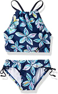 Girls' Daisy Beach Sport Halter Tankini 2-Piece Swimsuit