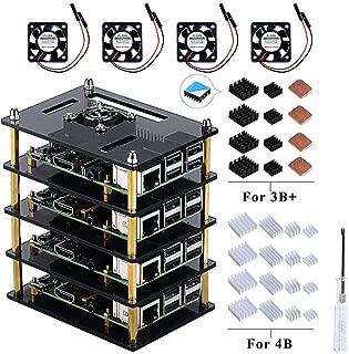 sourcing map 4Pcs 120W 93dB Negro Fuerte Altavoz Agudo de Techo Sistema Audio Est/éreo de Coche