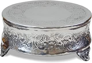 IOTC AL 4181-12-VC Chrome Wedding Aluminum Cake Stand Silver Finish (12 Inch Round), Small, 12